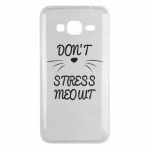 Phone case for Samsung J3 2016 Don't stress meowt