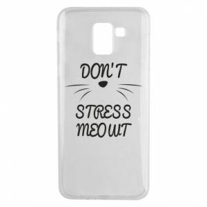 Etui na Samsung J6 Don't stress meowt