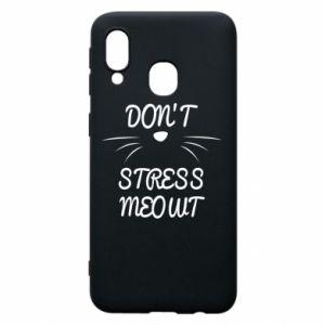 Etui na Samsung A40 Don't stress meowt