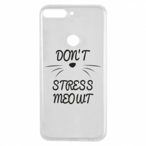 Phone case for Huawei Y7 Prime 2018 Don't stress meowt