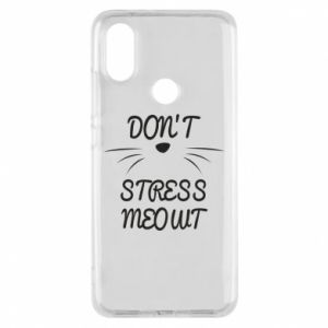 Phone case for Xiaomi Mi A2 Don't stress meowt