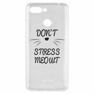 Phone case for Xiaomi Redmi 6 Don't stress meowt
