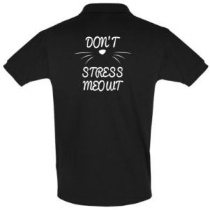 Men's Polo shirt Don't stress meowt