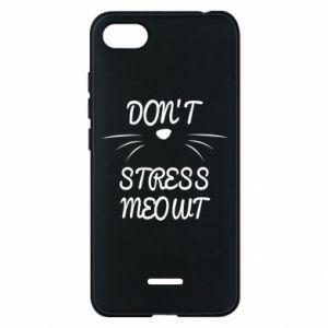 Phone case for Xiaomi Redmi 6A Don't stress meowt