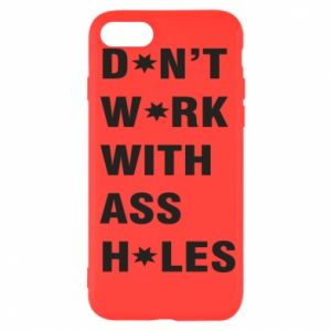 Etui na iPhone SE 2020 Don't work with ass holes
