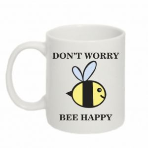 Kubek 330ml Don't worry bee happy