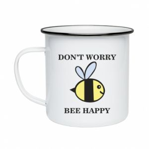 Kubek emaliowane Don't worry bee happy