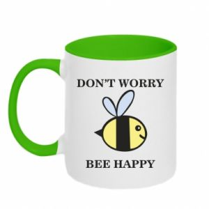 Kubek dwukolorowy Don't worry bee happy