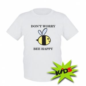 Dziecięcy T-shirt Don't worry bee happy