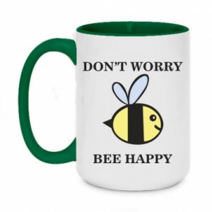 Kubek dwukolorowy 450ml Don't worry bee happy
