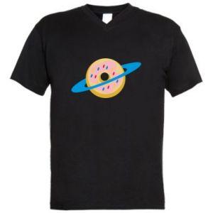 Męska koszulka V-neck Donut planet