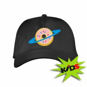 Dziecięca czapeczka z daszkiem Donut planet