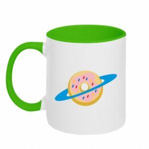 Kubek dwukolorowy Donut planet