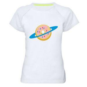 Damska koszulka sportowa Donut planet