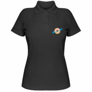 Damska koszulka polo Donut planet