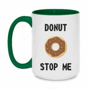 Kubek dwukolorowy 450ml Donut stop me