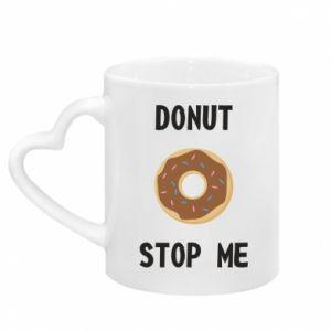 Kubek z uchwytem w kształcie serca Donut stop me