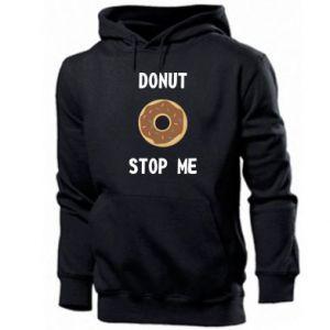 Męska bluza z kapturem Donut stop me