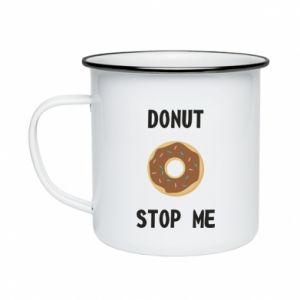 Kubek emaliowane Donut stop me