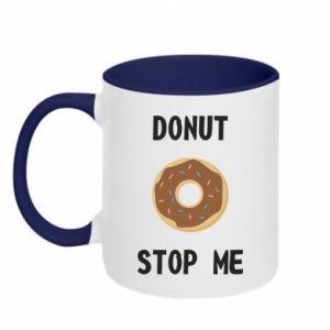 Kubek dwukolorowy Donut stop me
