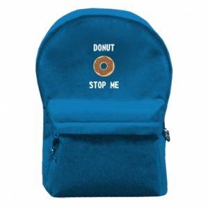 Plecak z przednią kieszenią Donut stop me