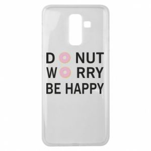 Samsung J8 2018 Case Donut worry be happy