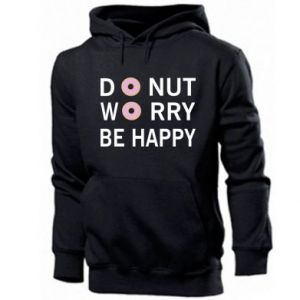 Męska bluza z kapturem Donut worry be happy