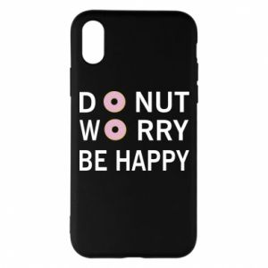 Etui na iPhone X/Xs Donut worry be happy