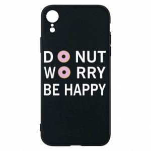 Etui na iPhone XR Donut worry be happy