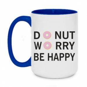 Kubek dwukolorowy 450ml Donut worry be happy