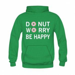 Bluza z kapturem dziecięca Donut worry be happy