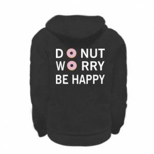 Bluza na zamek dziecięca Donut worry be happy