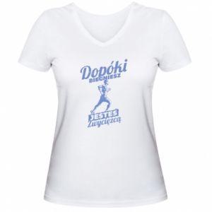 Women's V-neck t-shirt While you run