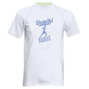 Koszulka sportowa męska Dopóki biegniesz