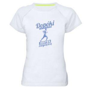 Koszulka sportowa damska Dopóki biegniesz