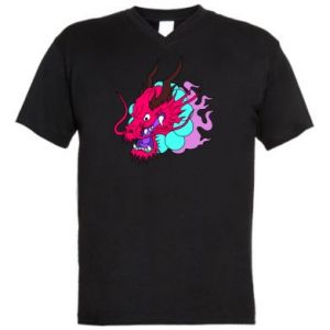 Men's V-neck t-shirt Dragon