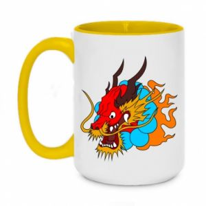 Two-toned mug 450ml Dragon