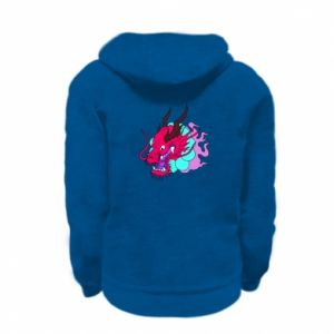 Kid's zipped hoodie % print% Dragon