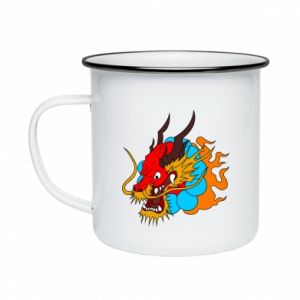 Enameled mug Dragon