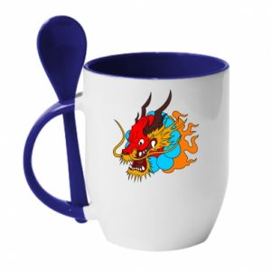 Mug with ceramic spoon Dragon
