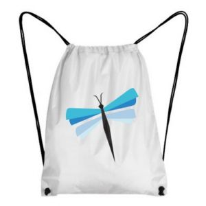 Backpack-bag Dragonfly abstraction - PrintSalon