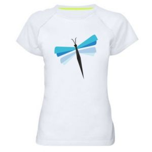 Women's sports t-shirt Dragonfly abstraction - PrintSalon