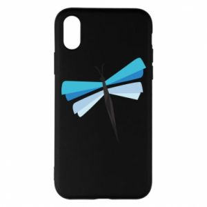 Etui na iPhone X/Xs Dragonfly abstraction