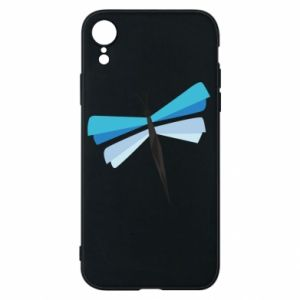 Phone case for iPhone XR Dragonfly abstraction - PrintSalon
