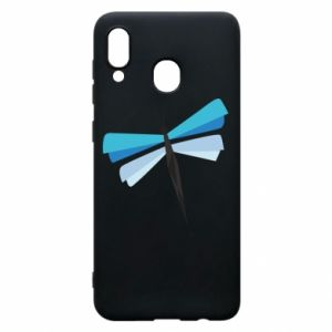 Etui na Samsung A20 Dragonfly abstraction
