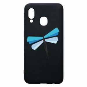 Etui na Samsung A40 Dragonfly abstraction