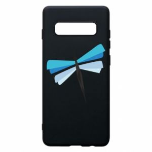 Phone case for Samsung S10+ Dragonfly abstraction - PrintSalon