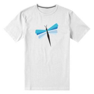 Men's premium t-shirt Dragonfly abstraction
