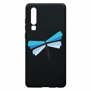 Phone case for Huawei P30 Dragonfly abstraction - PrintSalon
