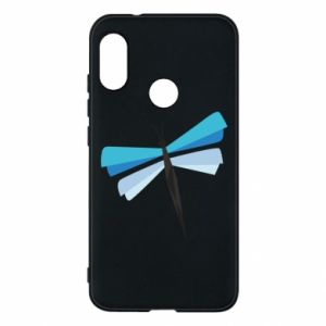 Phone case for Mi A2 Lite Dragonfly abstraction - PrintSalon